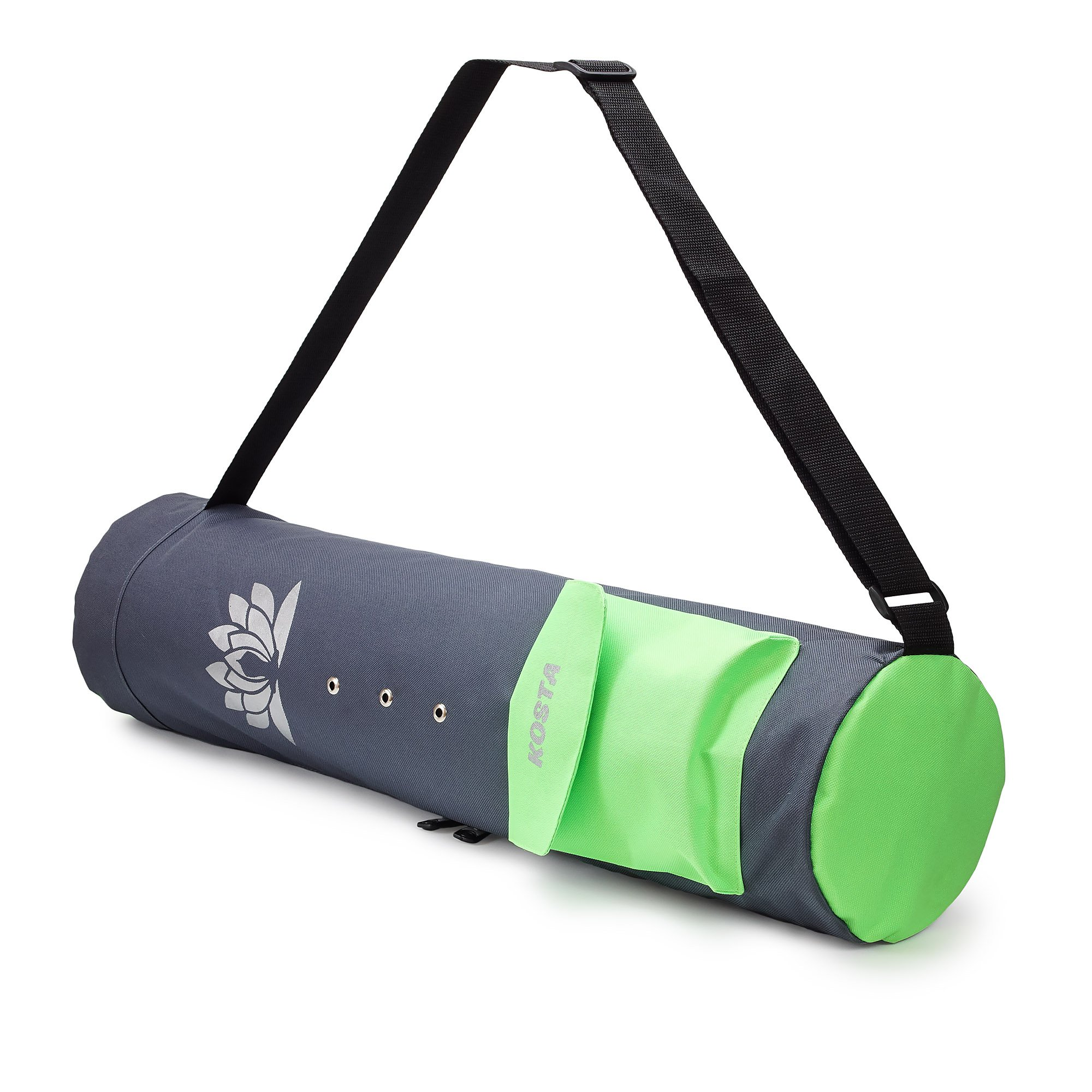 KOSTA Yoga Mat Bag Carrier for Men and Women - Yoga Bag Holder Stylish and Convenient for Any Size Mat Grey and Green