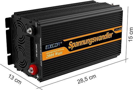 Inversor electrico de 2000 4000w convertidor de voltaje de 24v a ...