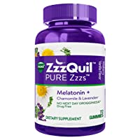 ZzzQuil Pure Zzzs Melatonin Sleep Aid Gummies, 72 ct, with Chamomile, Lavender and...
