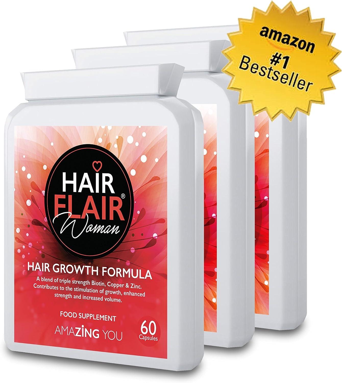 Zing pelo Flair® para las mujeres (Triple Pack)–# 1más vendido extrema pelo suplementos de vitalidad para mujeres con nuestra propia especial formulación para Amazing pelo. Envío gratuito.