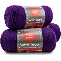 Red Heart With Love Yarn, 3-Pack - Aubergine 3 Pack