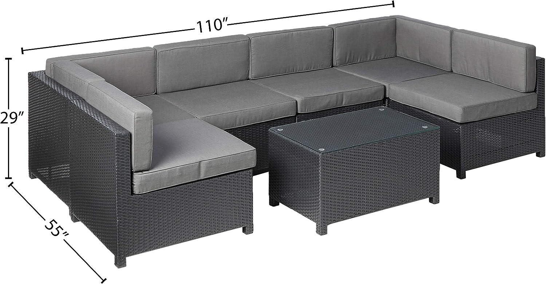 Ohana Mezzo 7 Piece Outdoor Wicker Patio Furniture Sectional