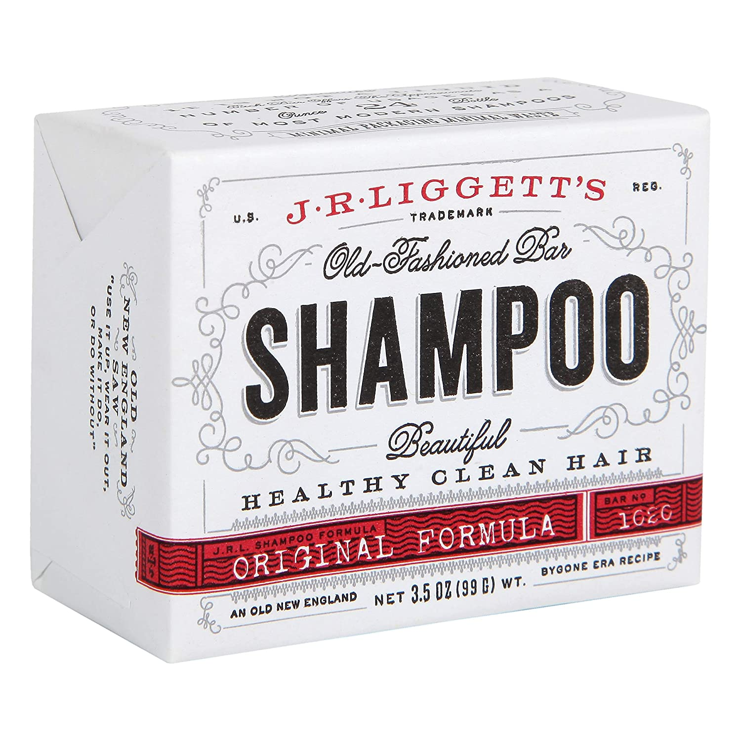 Amazon.com : J·R·LIGGETT'S All-Natural Shampoo Bar, Original Formula -  Supports Strong and Healthy Hair - Nourish Follicles with Antioxidants and  Vitamins - Detergent and Sulfate-Free, One, 3.5 Ounce Bar : Hair Shampoos :