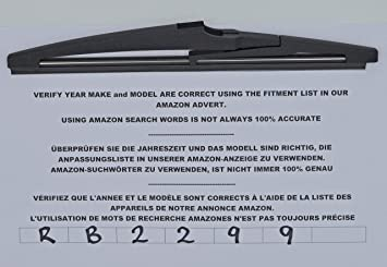 Limpiaparabrisas trasero de ajuste exacto RB2299: Amazon.es: Coche y ...