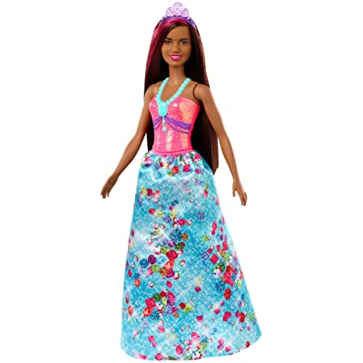​Barbie Dreamtopia Princess Doll, 12-Inch, Brunette with Pink Hairstreak Wearing Blue Skirt and Tiara, for 3 to 7 Year Olds​: Toys & Games