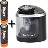 Electric Pencil Sharpener, Battery-Powered, Batteries Included, High-Speed Automatic, best for Colored and No. 2 Wood Graphite Pencils, for Home Office School Classroom Adults Kids (Black/Silver)