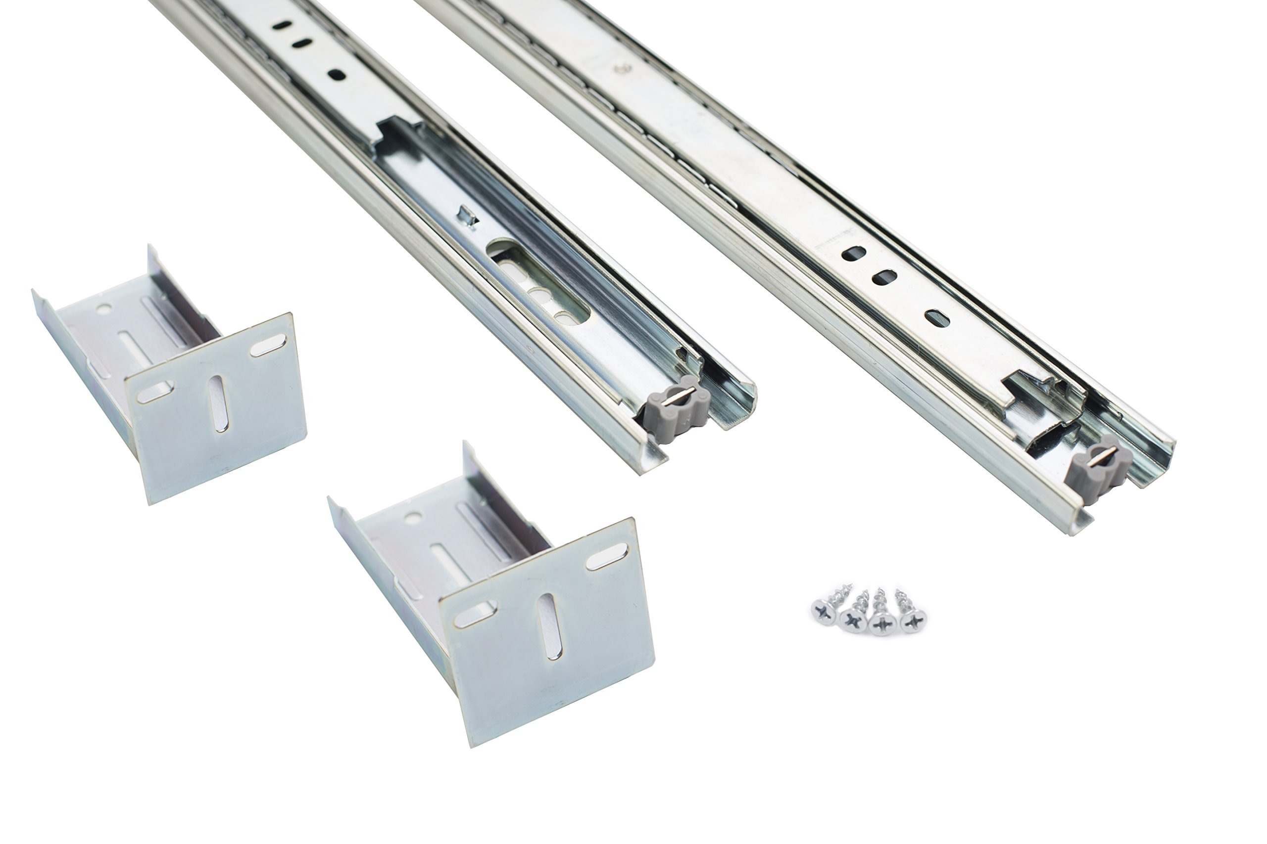 Comet Pro Hardware S3 22 Inch Full Extension Ball Bearing Slides 80 LB Capacity For Kitchen Cabinet Drawer, Rear Mount Bracket and Screws are Included (22 Inch 10 Pairs)