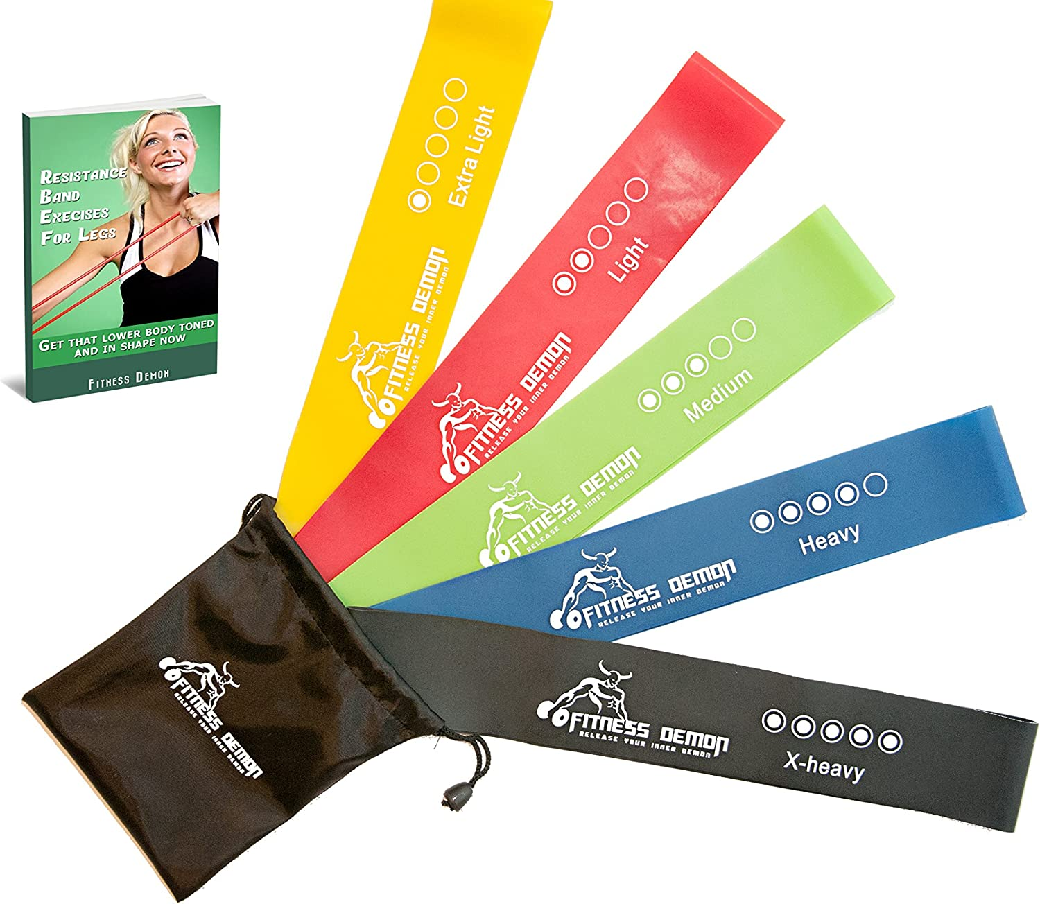 Resistance Loop Bands Set Of 5 Exercise Bands Perfect For Yoga Pilates And Strength Training Designed In Canada Bonus Ebook And Online Videos Exercise Bands Amazon Canada