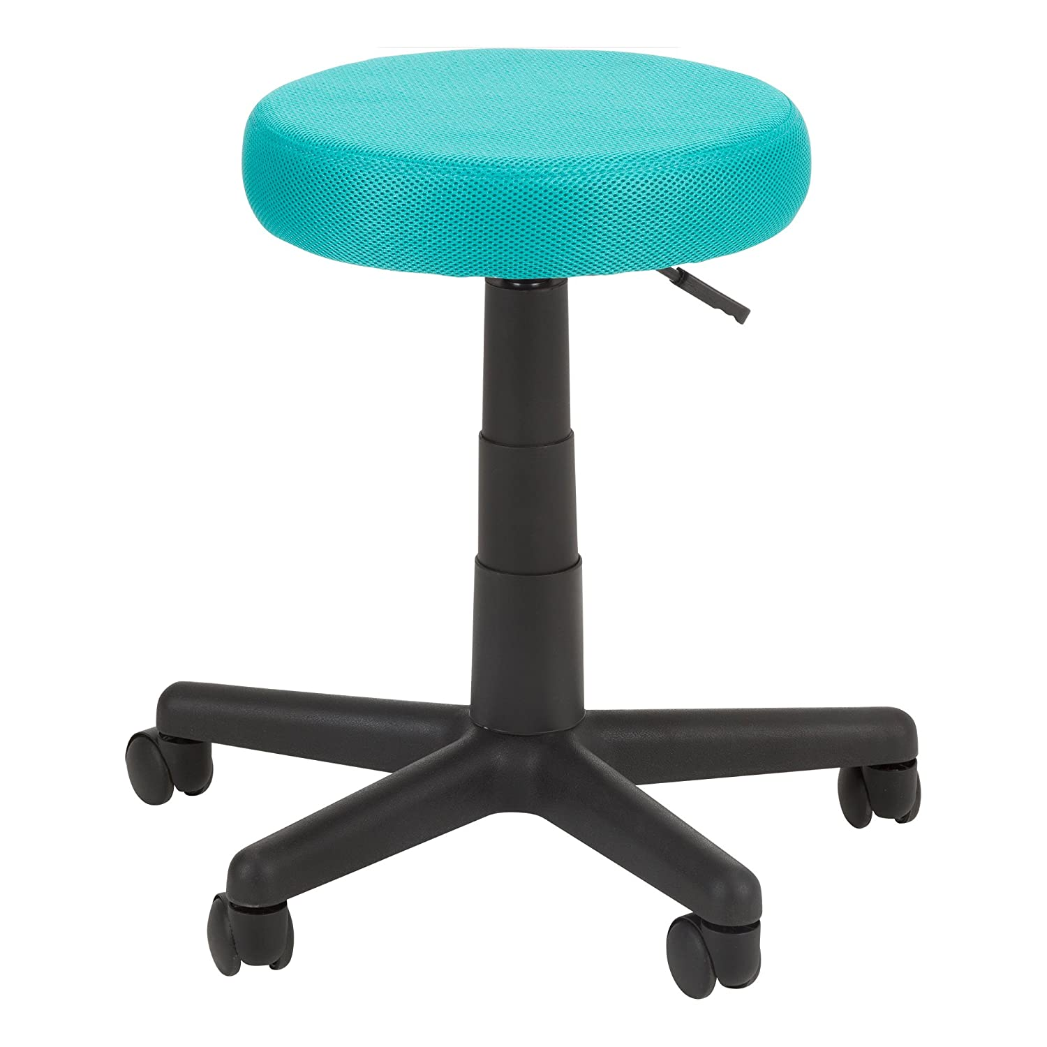 Norwood Commercial Furniture NOR-OUG1008FA-TL-SO Adjustable-Height Colorful Mesh Utility Stool, Teal
