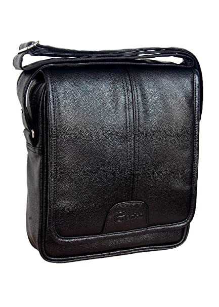 feb1a7e56329 Easies Black Color Synthetic Leather Trendy Medium Size Sling Bag For Men  For Daily Use  Amazon.in  Bags
