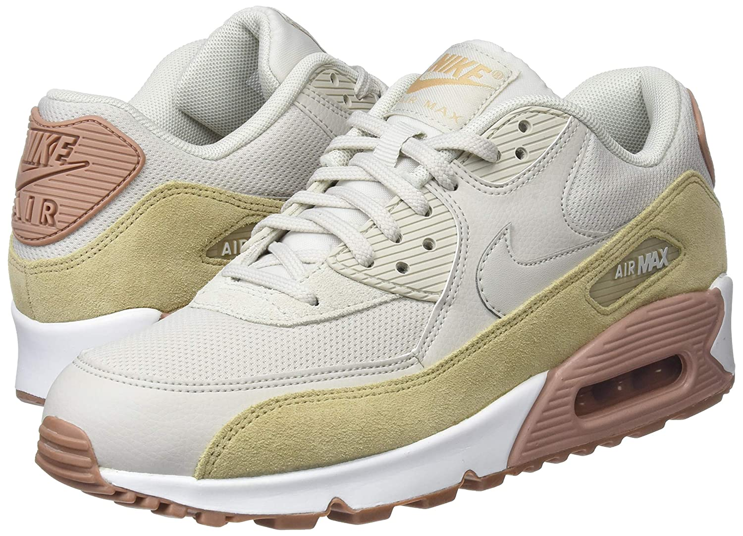 lowest price 31b09 2a945 Amazon.com | Nike WMNS Air Max 90 Lifestyle Women Sneakers Grey/Brown/Dark  Brown-White New 325213-046 - 10 | Shoes
