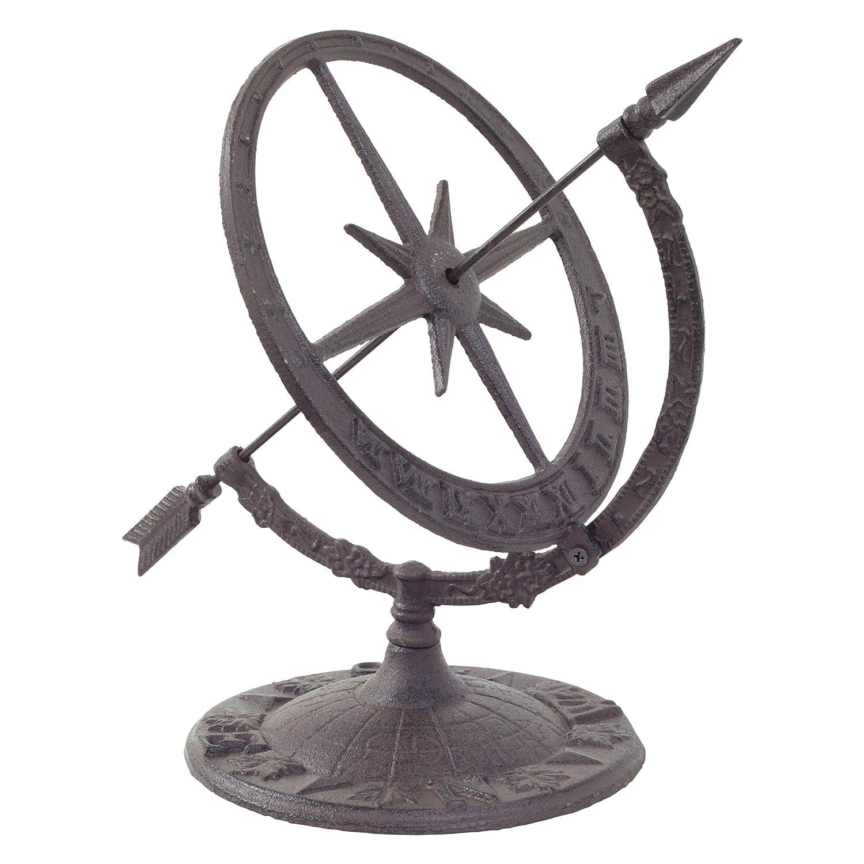 Cast Iron Armillary Sundial Clock Garden Feature Ornament Gardens2you