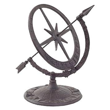 Cast Iron Armillary Sundial Clock Garden Feature Ornament