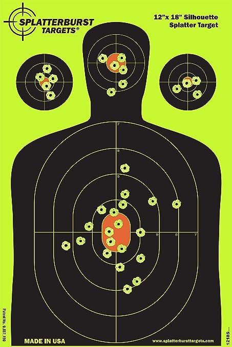 "Shooting Targets Reactive Splatter 12/""x18/"" 10 25 50 Pack Gun Shots Paper Target"
