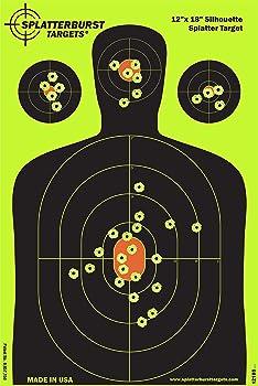 Splatterburst Targets 12 x 18 inch - Silhouette Reactive Shooting Target