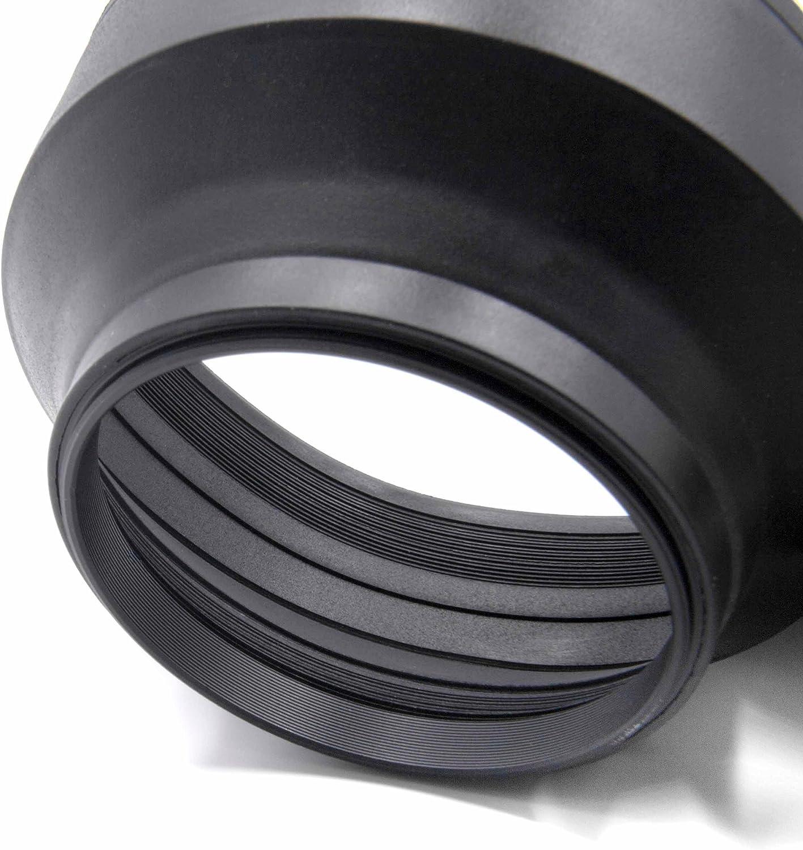 vhbw paraluce flessibile 67mm compatibile con Fuji//Fujifilm XF 16 mm F1.4 R WR Fuji//Fujifilm XF 18-135 mm F3.5-5.6 R LM OIS WR obiettivo