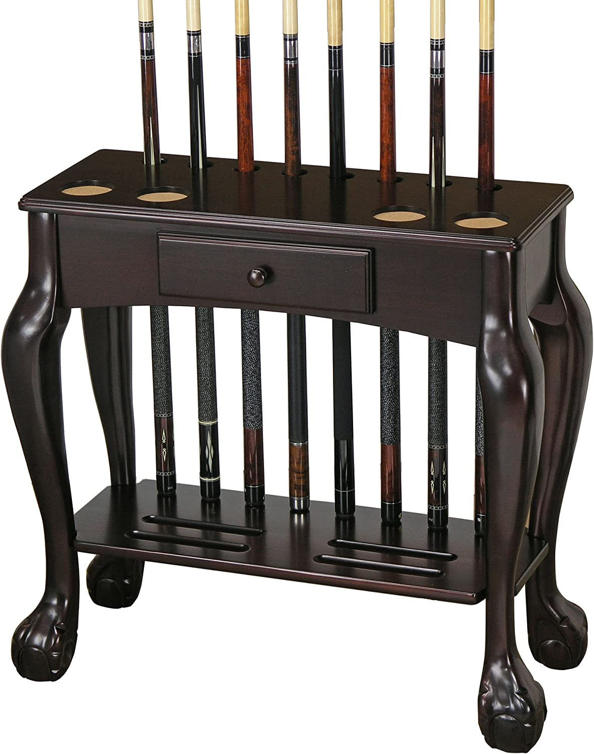 Fairview Game Rooms Billiard Cue and Ball Rack with Drawer
