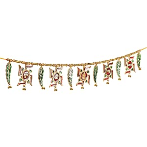 Jaipuri haat Metal Superior Quality Decorative Ethnic Bandarwal Toran Door Hangings