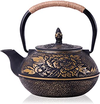 JUEQI 900 ML Old Dutch Cast Iron Teapot