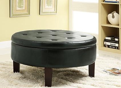 Incredible Amazon Com Pop Faux Leather Button Tufted Elegant Round Ibusinesslaw Wood Chair Design Ideas Ibusinesslaworg