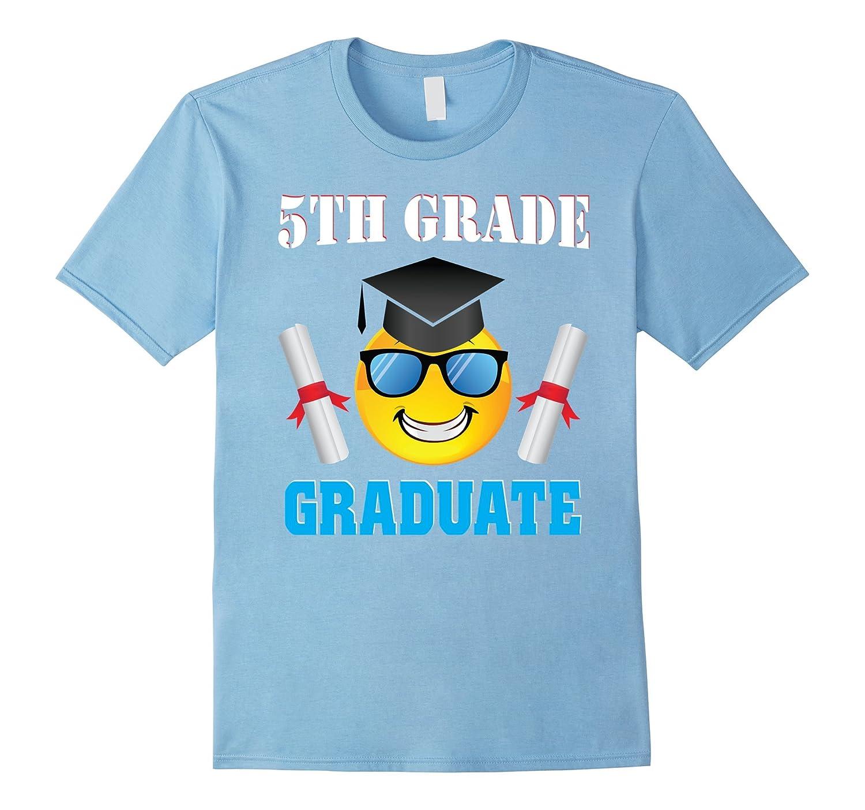 5TH Grade Graduate With Cute Emoji Graduation T-Shirt Gift-TH