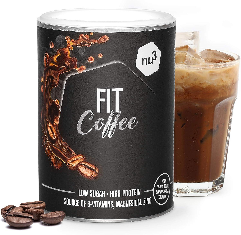 nu3 Fit Protein Coffee 270g – Café proteico – Con cordyceps y melena de león (hongos vitales) – Enriquecido con magnesio, zinc y complejo de vitamina ...
