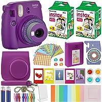 Fujifilm Instax Mini 9 Cámara instantánea con funda de transporte + película fotográfico Fuji Instax (40 hojas), paquete…