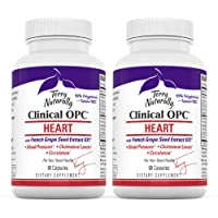 Terry Naturally Clinical OPC Heart (2 Pack) - 600 mg Grape Seed Complex, 60 Vegan Capsules - Cardiovascular Support…