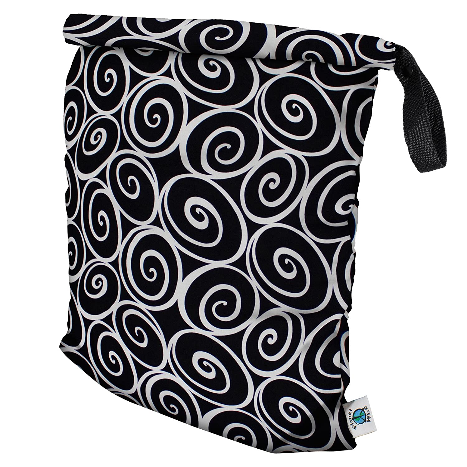 Planet Wise Roll Down Wet Diaper Bag, Midnight Curl, Large by Planet Wise   B00CHPJ0O8