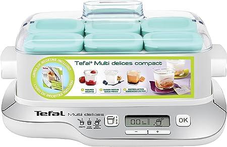 Tefal YG657120 YG6571-Yogurtera Multi Delices, Robot de postres, yogures y Queso Fresco, tarros Aptos Nevera y el lavavajillas, Pantalla LCD, 2000 W, De plástico, Negro, Plata, Transparente: Amazon.es: Hogar