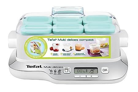 Tefal YG657120 YG6571-Yogurtera Multi Delices, Robot de postres, yogures y Queso Fresco, tarros Aptos Nevera y el lavavajillas, Pantalla LCD, 2000 W, ...