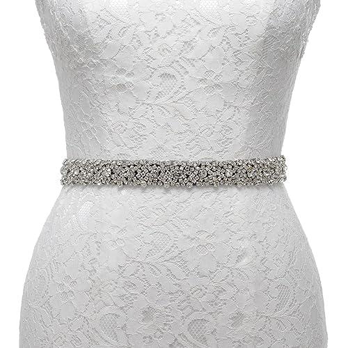 Remedios cinturón de diamantes decoración de la boda para las vestido de etiqueta de novia mujeres n...