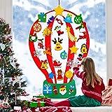 4 ft Felt Christmas Tree for Kids DIY Christmas Tree with 35 Pcs Detachable Xmas Ornaments Handmade Educational Toy…