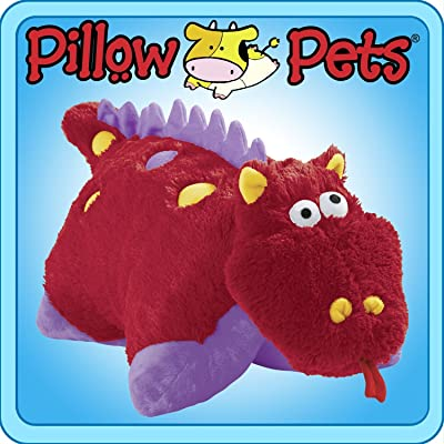 Pillow Pets 11 inch Pee Wees - Fiery Dragon: Toys & Games [5Bkhe0507176]