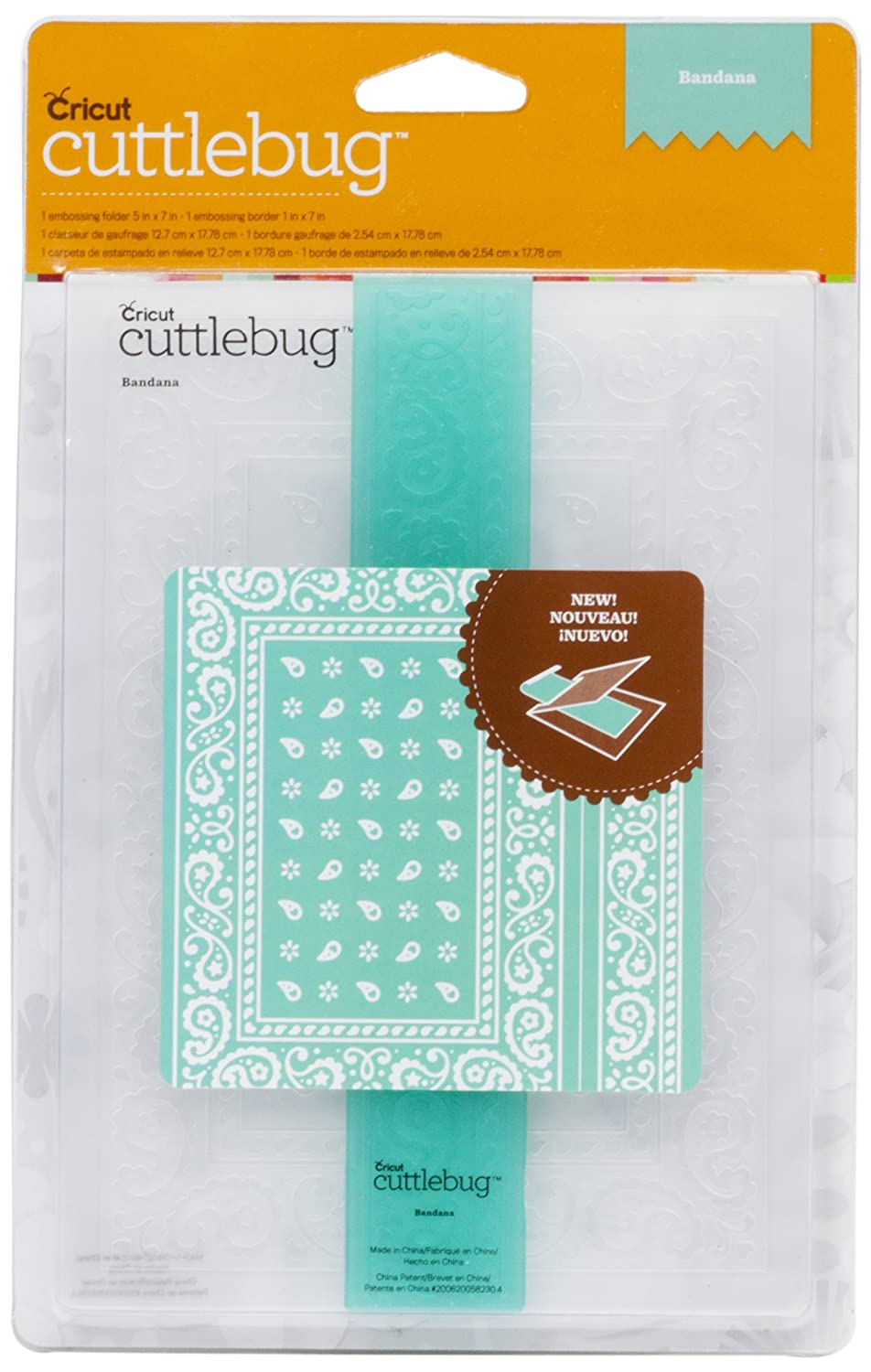 Cuttlebug 2001934 Embossing Folder and Border Paper Crafts, Bandana, 5 by 7-Inch