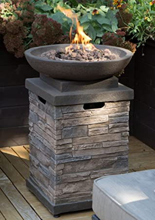 fire pit bowl concrete mold diy and screen realistic stone outdoor patio free cover get ready