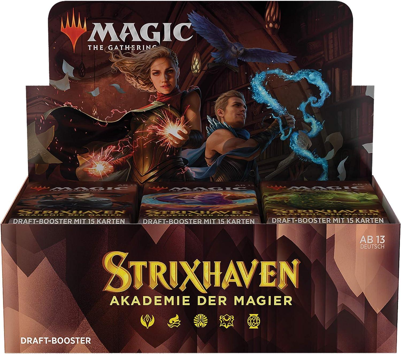 36 Booster -Deutsche Version 540 Magic-Karten Magic the Gathering Strixhaven-Draft Display