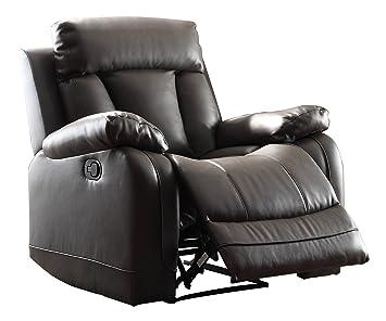 Super Home Elegance Ackerman Recliner Chair Black Bonded Leather Pdpeps Interior Chair Design Pdpepsorg