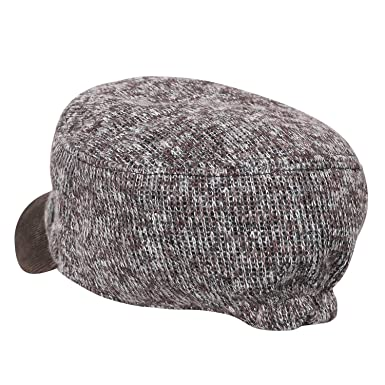 3f4c3f04ac8 ililily Large Size Mixed Color Knitted Military Army Hat Vintage Cadet Cap   Amazon.co.uk  Clothing