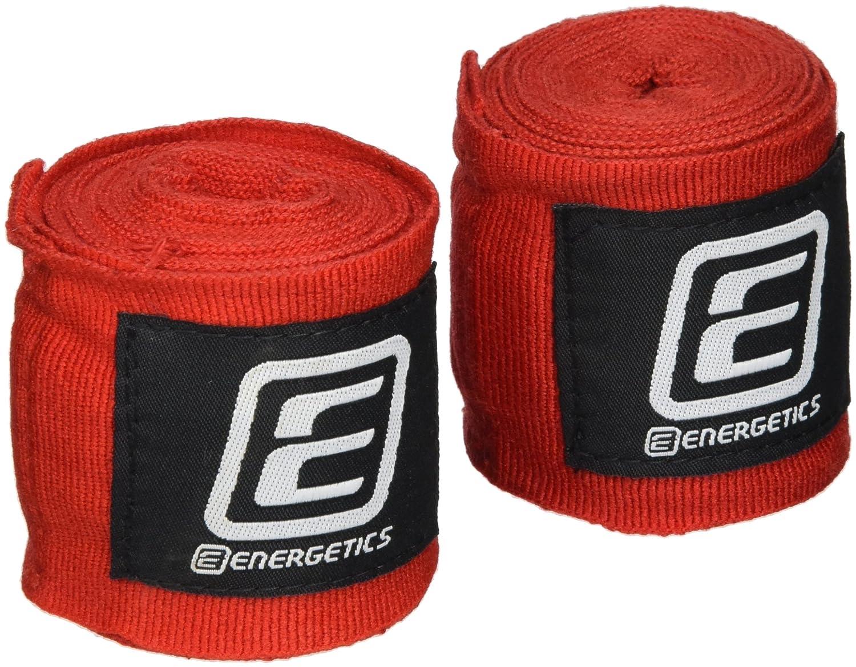 Fliyeong Boxen Bandage 2,5 m Baumwolle Boxen Handwickel Bandagen Stanzen Hand Band Armschutz Boxing rot