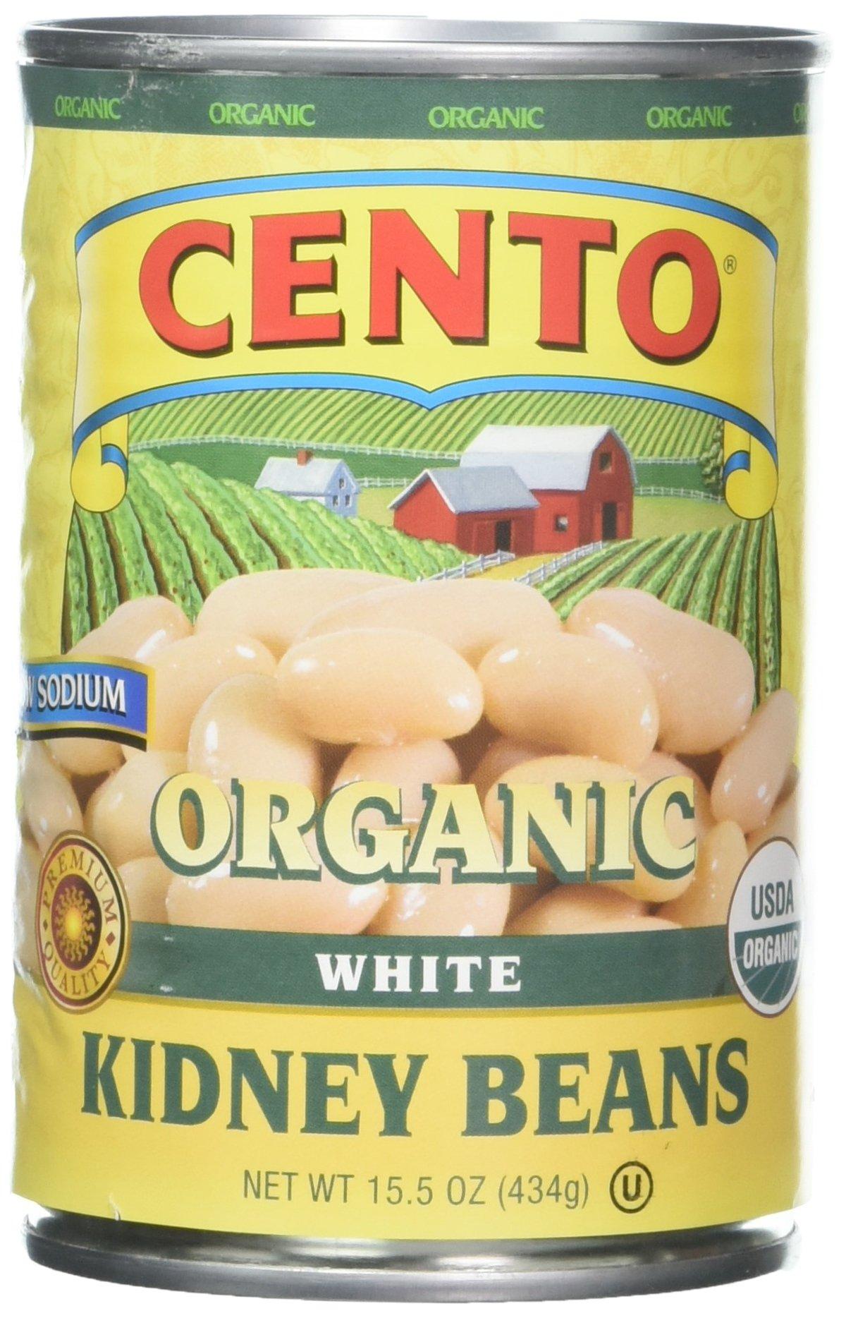 Cento Organic White Kidney Beans, 15.5 Ounce (Pack of 12)