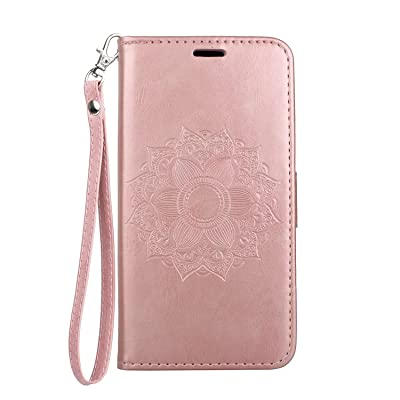 WaiterQA Samsung Galaxy Note10 Plus Note 10+ Flip Case Leather Cover Kickstand Wallet Cover Card Holders Extra-Shockproof Business Datura Embossing 3 Card Slot 1 Money interlayer (Pink): Toys & Games