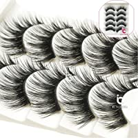 ICYCHEER Pro Makeup 5 Pairs False Eyelashes Eye Lashes Extension Natural Look Ultra Long Thick Lashes Handmade Party