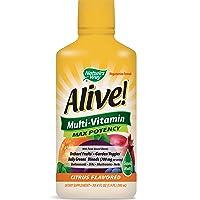 Nature's Way Alive! Multivitamin Citrus Flavor Liquid, Food-Based Blends and Antioxidants...