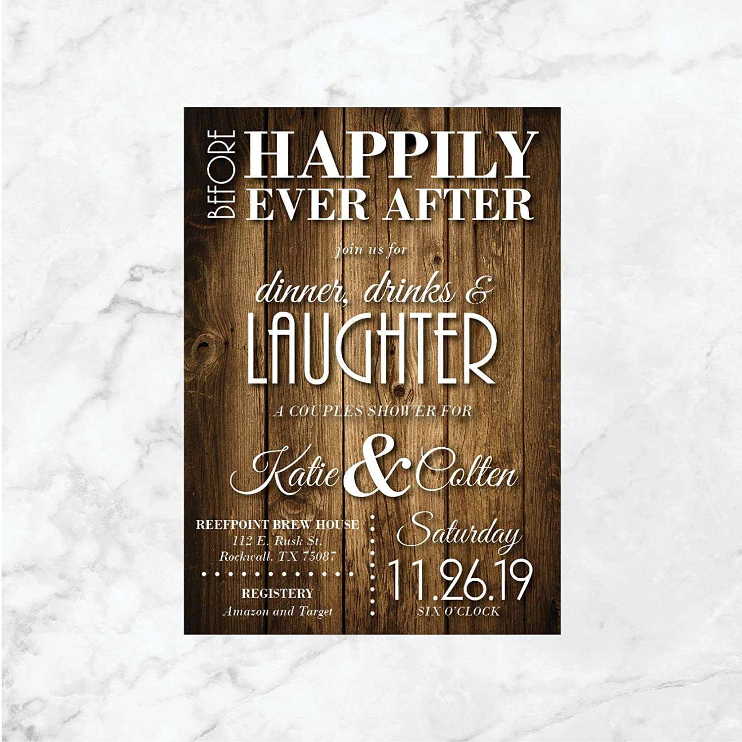 Amazon Com Couples Shower Invitations Rustic Shower