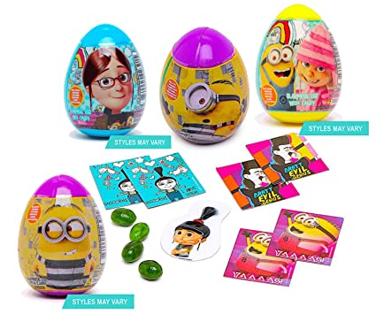 Despicable Me Minions Easter Surprise Plastic Eggs Set Of 4 Featuring Gru Lucy