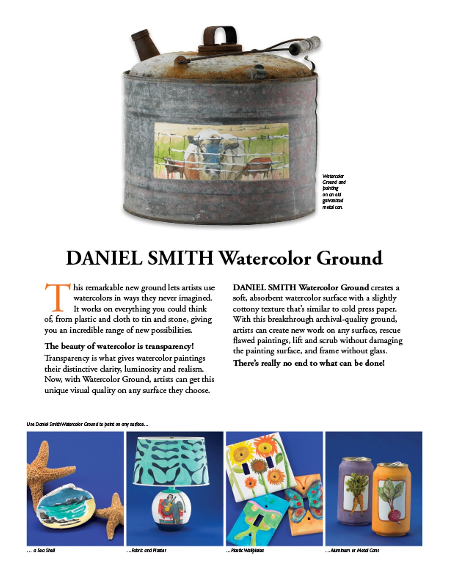 Daniel Smith 1 Pint Watercolor Ground, Jar