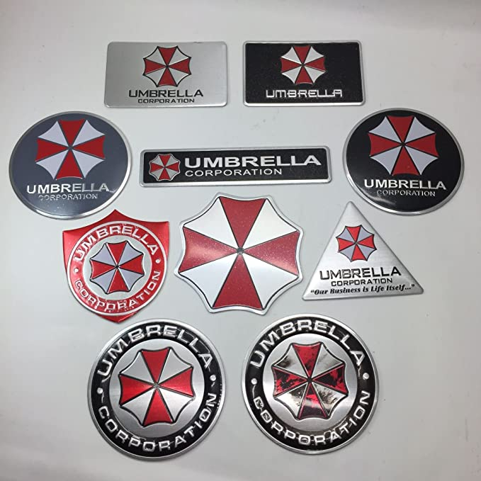 Motocicleta Addict 3d pegatinas aluminio Resident Evil Umbrella Corporation Car Sticker Decals emblema 7 tipos estilo coche Auto accesorios: Amazon.es: ...