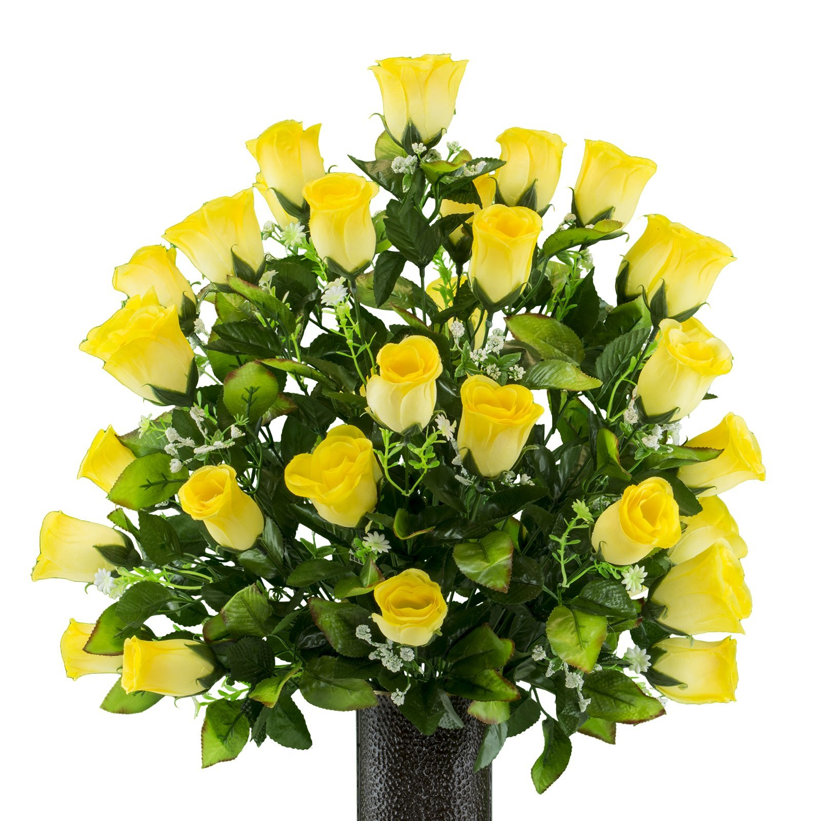 Two-Tone-Yellow-Rose-featuring-the-Stay-In-The-Vase-DesignC-Flower-Holder-MD2178