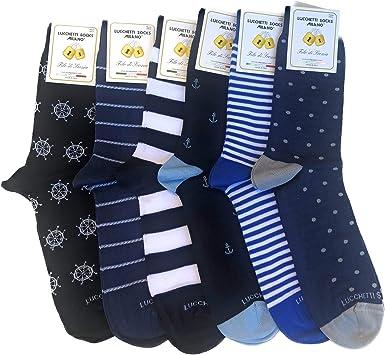 Candados Socks Milano 6 pares de calcetines cortos de algodón hilo de Escocia elástico de verano en fantasía Set Amerigo 39-42 Talla única: Amazon.es: Ropa y accesorios